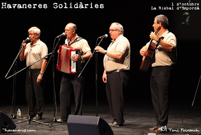 Berganti a la cantada d'havaneres Solidàries de La Bisbal d'Empordà