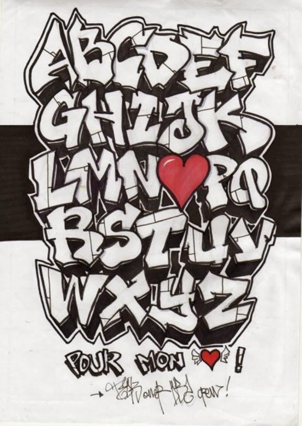 Graffiti Creator Styles: alphabet graffiti stencils