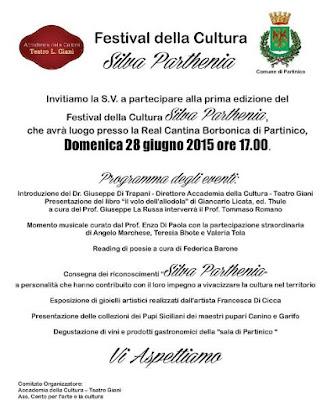 Festival della Cultura Silvia Parthenia a Partinico