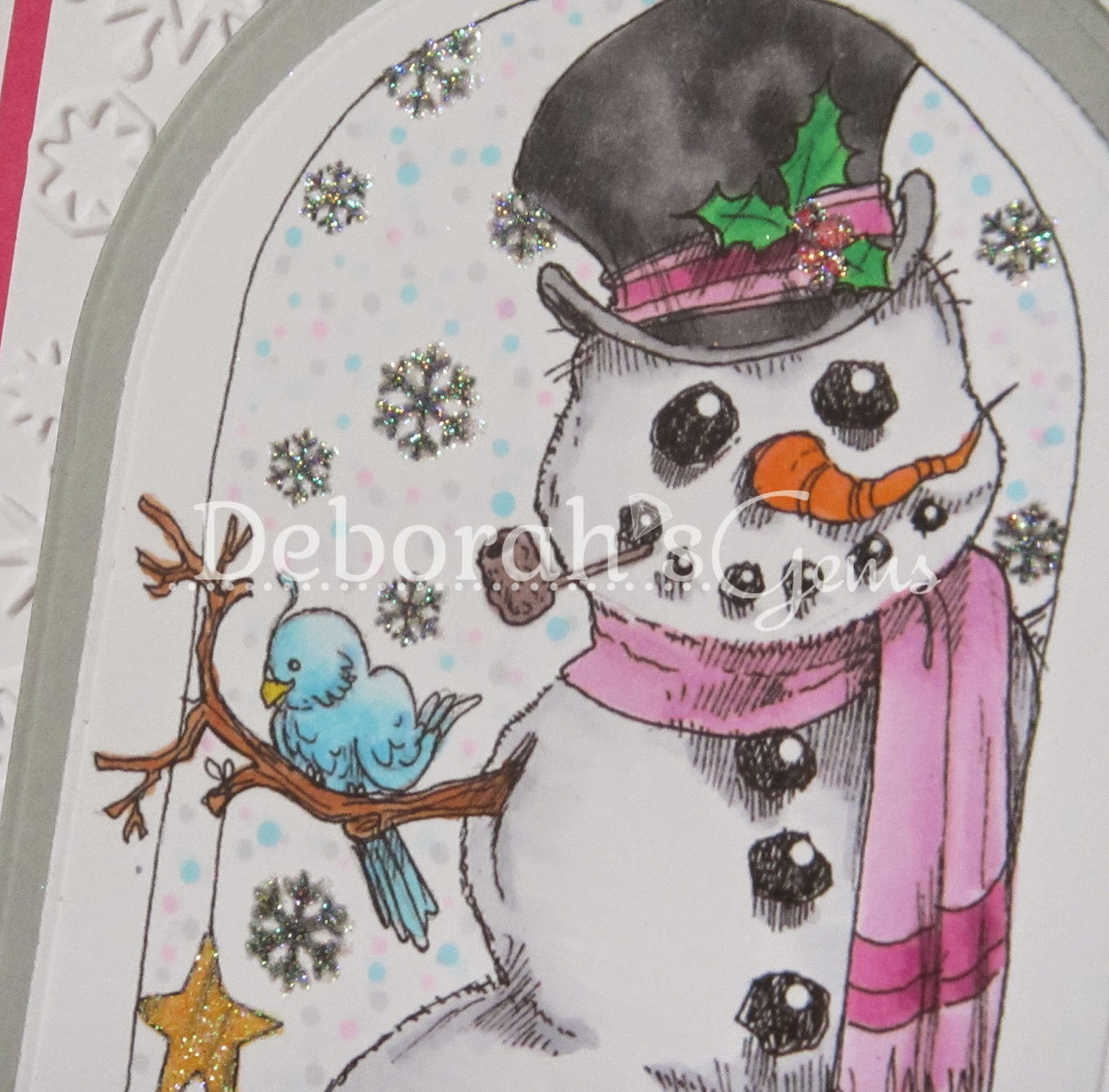 Season's Greetings detail - photo by Deborah Frings - Deborah's Gems