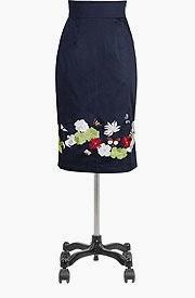 Garden floral pencil skirt