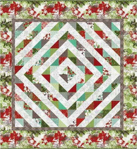 Free Quilt Patterns Moda Fabrics : Nature s Gift for Moda , 65x77?, free pattern by Deb Strain at United Notions