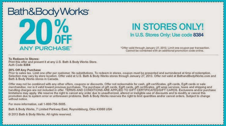 Bath and body works printable coupons december 2015