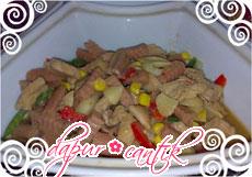 resep masakan tumis sosis ayam jamur jagung manis dapur cantik