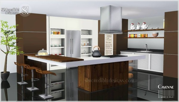 Custom sims 3 cayenne kitchen for Sims 2 kitchen ideas
