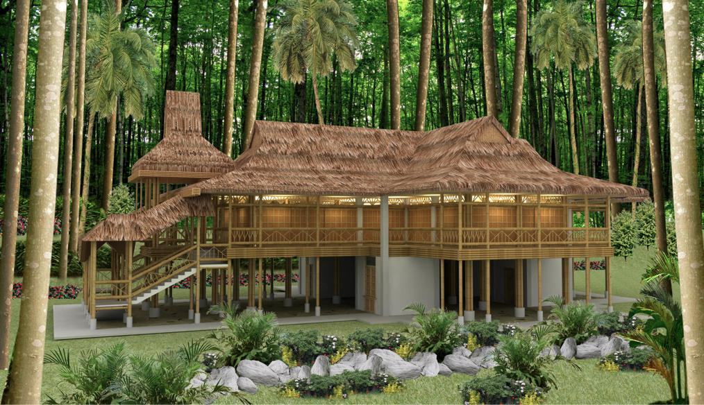 Malungon retreat and community resource center bamboo for Small house design made of bamboo