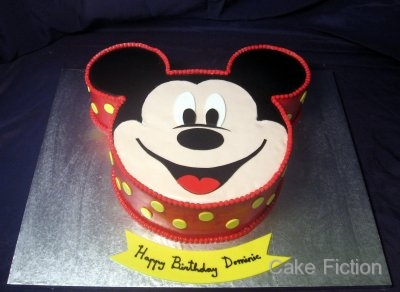 Cake Fiction Mickey Mouse Ears Birthday Cake And Cupcake