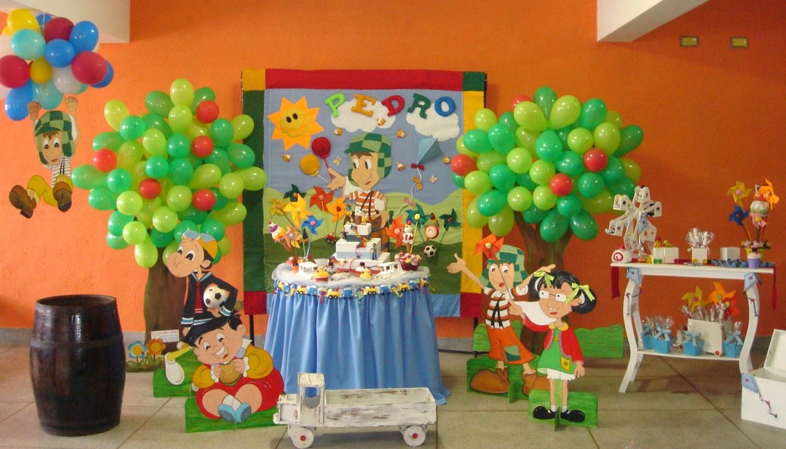 DE FESTA INFANTIL Decoração Turma do Chaves Pedro  6 anos