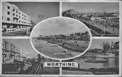 1940s Postcard, Worthing, West Sussex, England