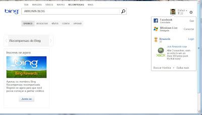 Imagem: Print de novidades no buscador Bing