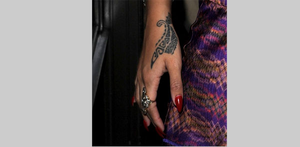 Rihanna Dragon Claw Tattoo