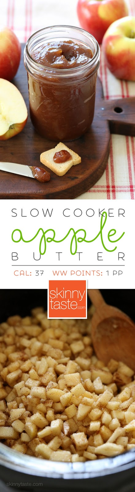 Slow Cooker Apple Butter – like a spreadable apple pie!