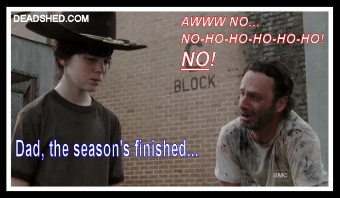 The Walking Dead Season 3 Meme Season Finished Rick Carl Cry 2 DeadShed Walking Dead Season 4 Finale Recap (with Spoilers!)