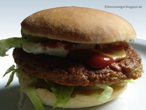 Hamburger Vegan (Bun, Pattie & Mayo selbst gemacht)