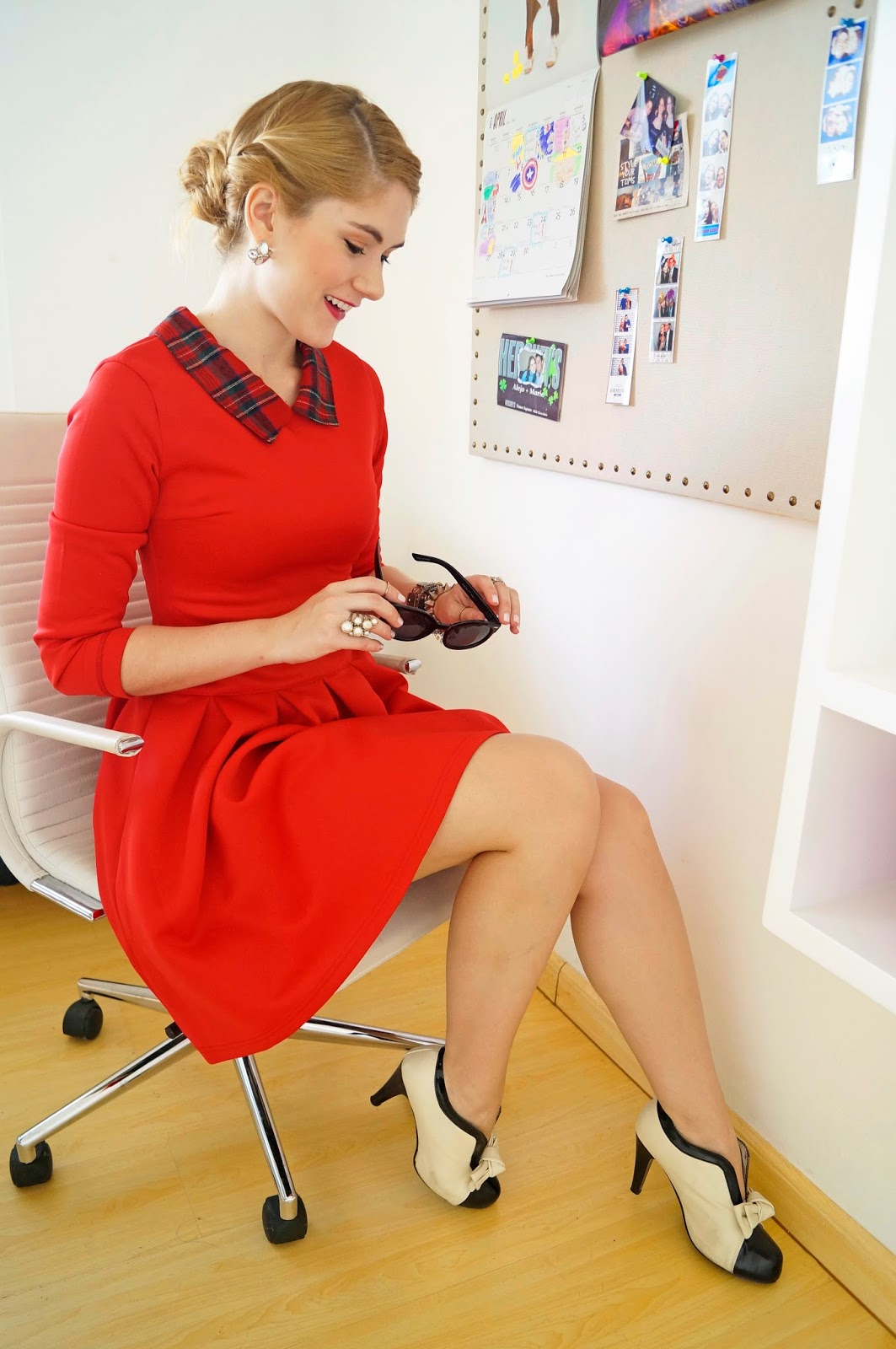 Fashion Blog, Elegant Outfit, Front Row Shop Dress, Red Dress Outfit, Booties Outfit