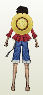 luffy timeskip papercraft