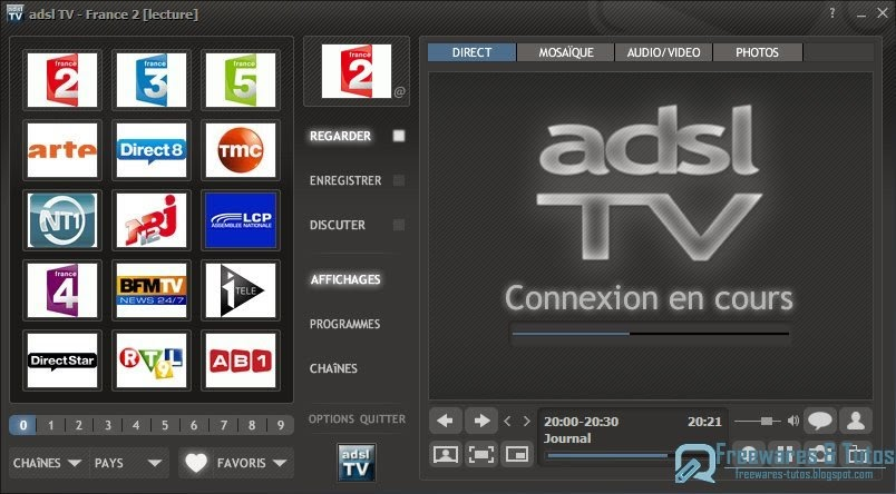 adsl tv 2011 le meilleur logiciel pour regarder et enregistrer la tv sur son pc freewares. Black Bedroom Furniture Sets. Home Design Ideas