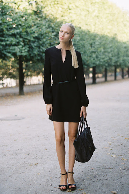 Little black dress streetstyle