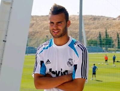 Jese Rodriguez at the Real Madrid facilities