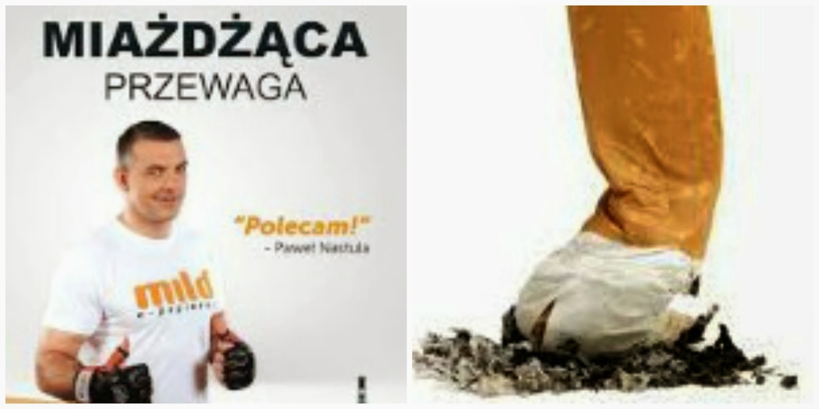 Obraz: billboard z Pawłem Nastulą promującym elektroniczne papierost firmy Mild