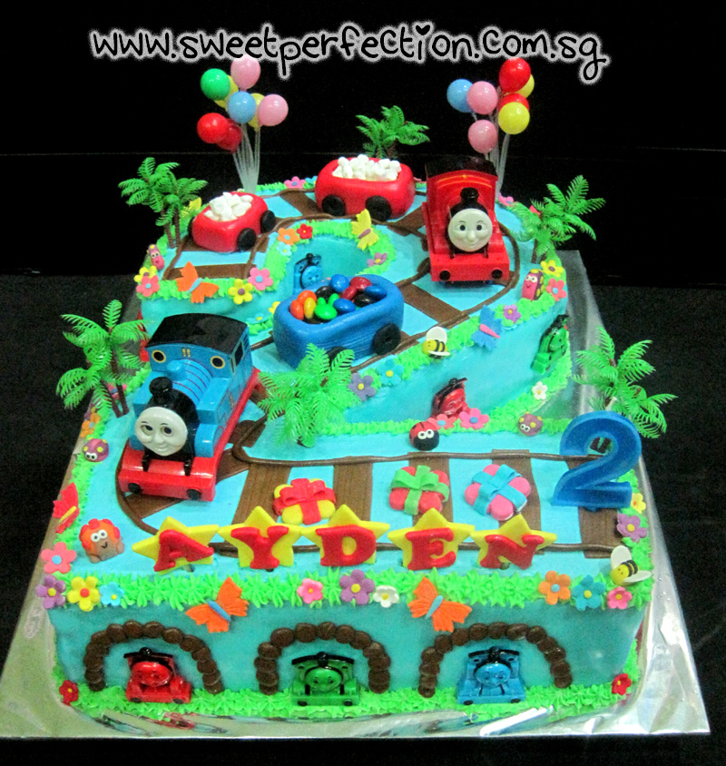 Number 2 Shaped Cakes http://sweetperfection-cakes-gallery.blogspot.com/2012/05/code-thomas42-ayden-no-2-shape-thomas.html