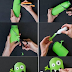 Cute DIY Monster Stencils and Crayon Holders from Shampoo Bottles via @usefuldiy #startup #bartersugar #lifehack #diy