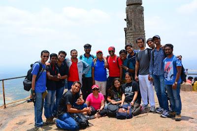 Shivagange trekking, group photo