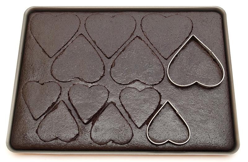 Valentinova jaffa tortica / Jaffa valentin cake biscuit