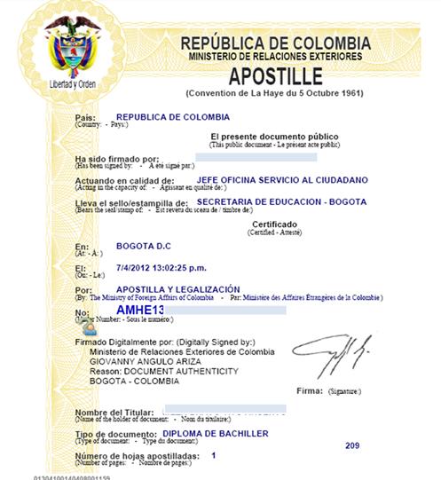 Apostilla oficial cali tel 3103851682 legalizar for Oficinas dhl colombia