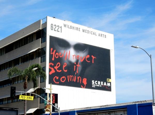 Giant Scream MTV series billboard