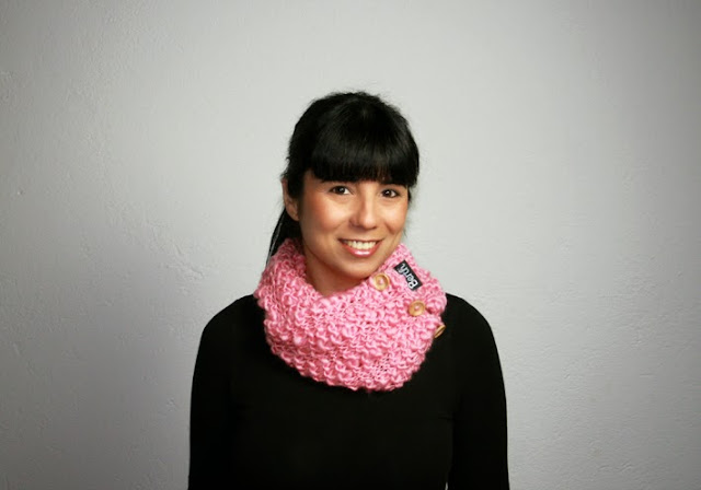 ROSY infinity scarf by BERTH handmade