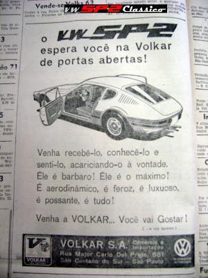 Anuncio antigo Volkswagen SP2