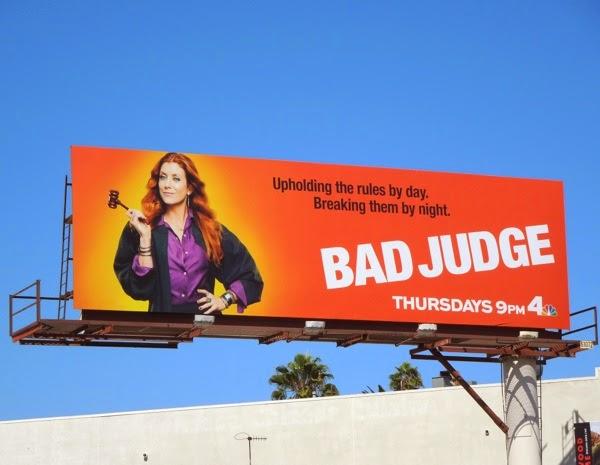 Bad Judge series premiere billboard
