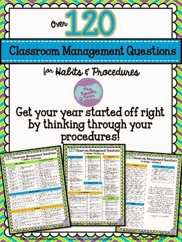 http://www.teacherspayteachers.com/Product/127-Classroom-Management-Questions-FREEBIE-1325396