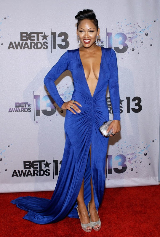 Meagan Good  at the 2013 BET Awards red carpet