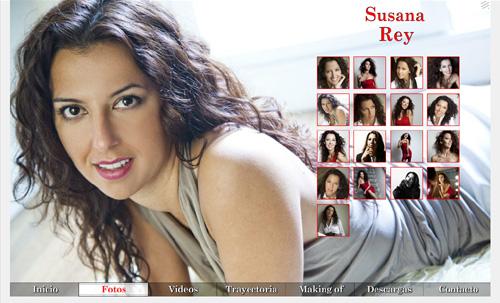 página web oficial de la actriz Susana Rey, diseñada por pepeworks
