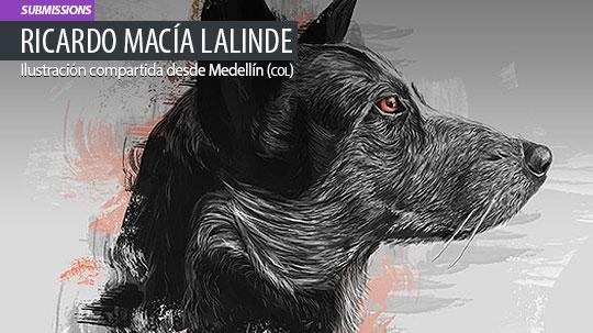 Ilustración. Laika de Ricardo Macía Lalinde