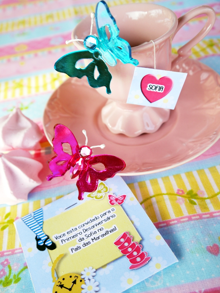 "Alice in Wonderland Inspired ""Un-Birthday"" Tea Party tea cups"