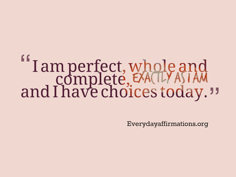 Affirmations for Weight-loss, Daily Affirmations 2014