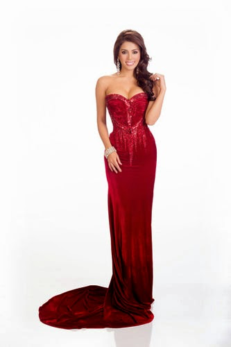 Mary Jean Lastimosa with perfectly-fit red gown