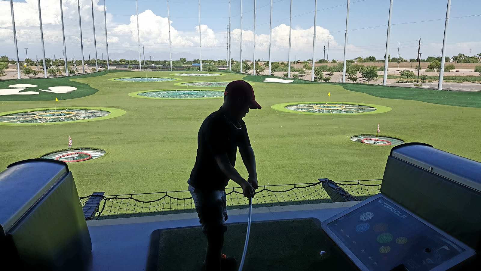 At Top Golf in Arizona with My Grandson Tyler