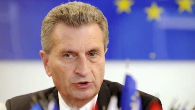 Ο κομισάριος για την ενέργεια Günther Oettinger, υπερασπίστηκε τους νέους περιορισμούς.