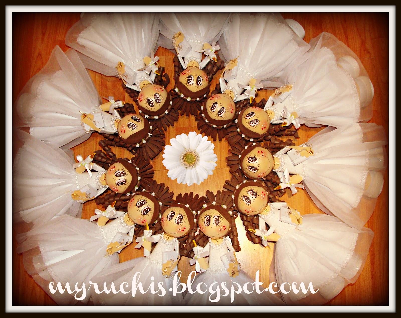 Myruchis centro de mesa para primera comuni n myruclaudia - Centros de mesa comunion ...