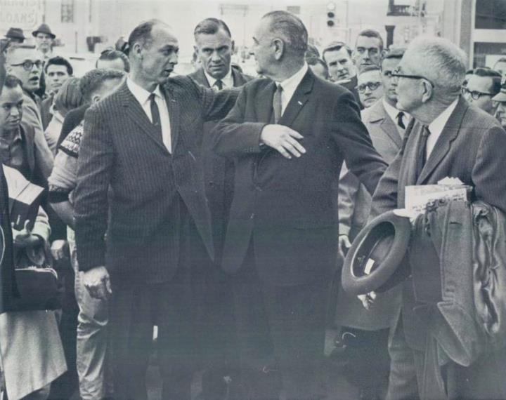 SAIC Rufus Youngblood and ASAIC Roy Kellerman with LBJ Dec 1963