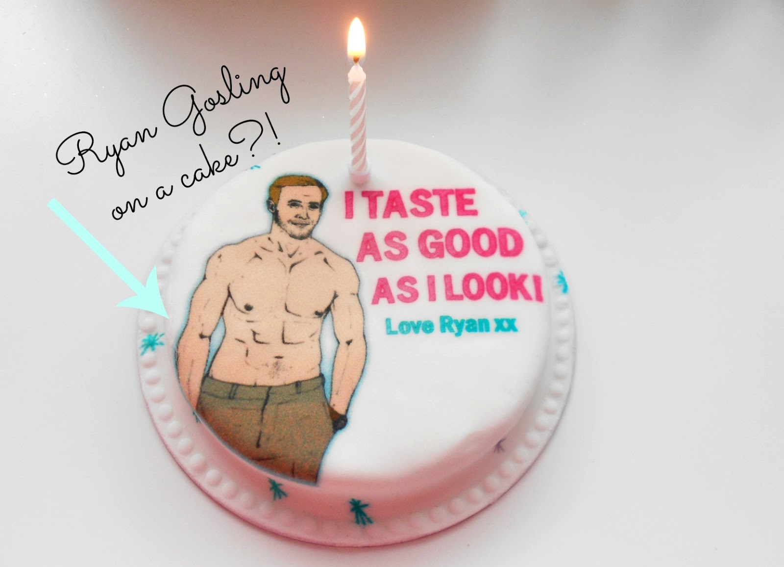 ryan gosling baker days letterbox cake delivered