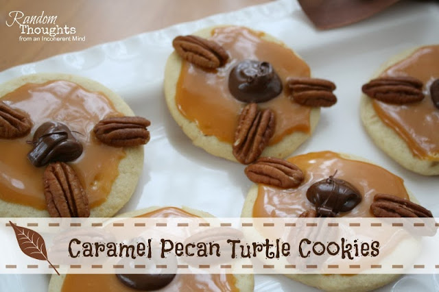 Caramel Pecan Turtle Cookies - Random Thoughts Home