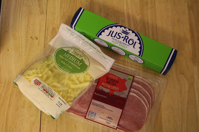 ingredients for bacon and cheese turnovers