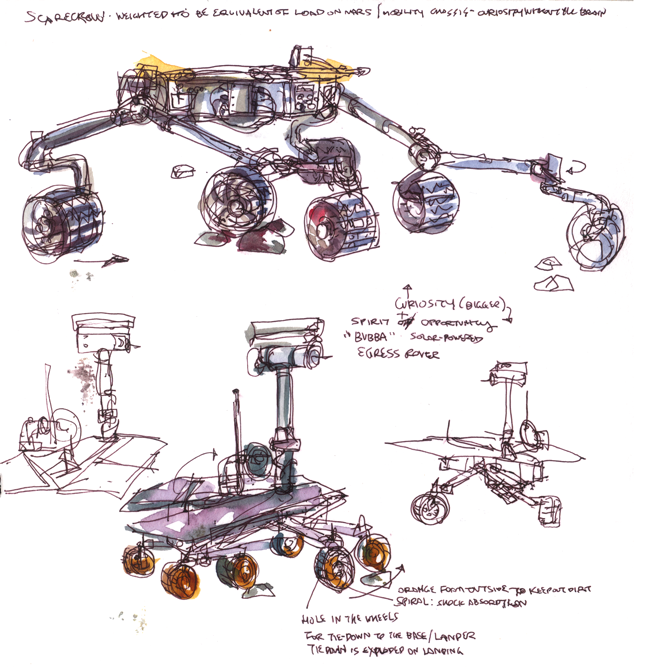 "Shiho Nakaza JPL ""Jet Propulsion Laboratory"" Pasadena ""Los Angeles"" California sketching watercolor watercolour ""Mars Rover"" spacecraft"