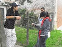Relevamiento en el barrio Juan XXlll por los compañeros de La Cámpora Luján