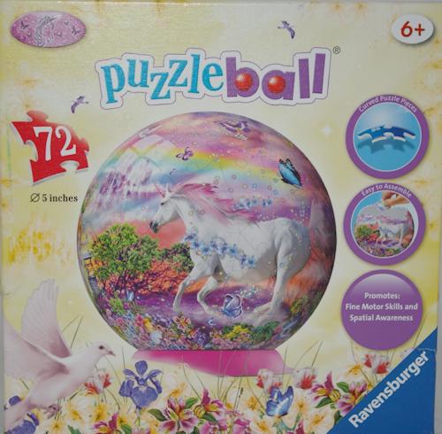 the playful otter ravensburger puzzleball 72 piece unicorn. Black Bedroom Furniture Sets. Home Design Ideas